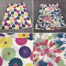 "Multicoloured Floral Reversible Skirt Size 12 100% Cotton Length 24"" Summer"