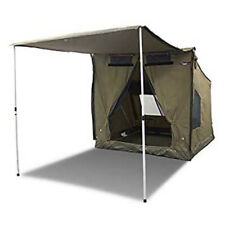 Oztent RV-2 Heavy Duty 2-3 Person Waterproof Camping Tent with Sun Awning, Tan