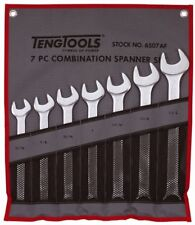 TENG TOOLS 6507AF 7 Piece Imperial Combination Spanner Set in Tool Roll
