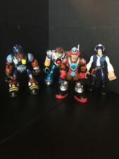 B19) Lot of 4 - Mattel Rescue Heroes Action Figures