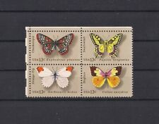 More details for usa 1977 butterflies inking flaw/error across 3 stamps rare v/f mnh