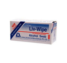 Liv-Wipe Alcohol Swabs (Box of 100)