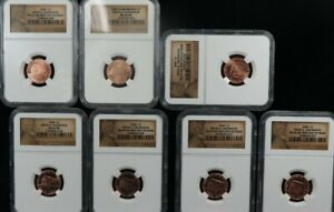 2009 / 2009 D LINCOLN BIRTH CHILDHOOD 1c  SMS BRONZE NGC MS66RD MS68RD FDI 7 SET