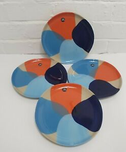 Stoneware Side Plates Da Terra Sugary Rio Collection Hand Painted Set of 4 NEW