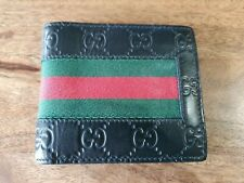 Authentic GUCCI GG Signature Web Bifold Wallet Authenticate First