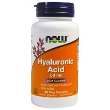 Now Foods Hyaluronic Acid With MSM 50mg 60 Vegetarian Capsules