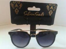 Sahara Sands Designer Lunettes de soleil-Noir/Or - 100% Protection UV-Cat 3