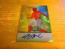Jeremy Moore Autographed 2011 Leaf Valiant Draft #JM1 Card MLB Baseball Angels