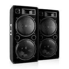 "PAIRE D ENCEINTES SONO SCENE DJ PA MALONE PW-2522 SUBWOOFER 2X 38CM 15"" 3000W"