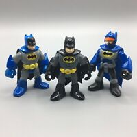 "Lot of 3 Fisher Price Imaginext DC Super Friends Batman 2.5"" Figures"