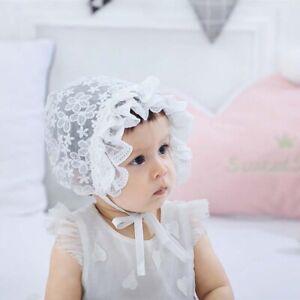 Cute Lace Bonnet Baby Hat Photo Props Flower Summer Baby Girls Sun Hats
