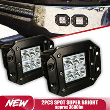 2Pcs Spot Dually Flush Mount 36W  LED Pod Lights Truck For Jeep Off-Road ATV