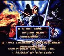 Super Star Wars Empire Strikes Back SNES Nintendo Game