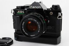 【EXC+++++】 Canon AE-1 Program Camera w/ NFD 50mm F/1.8, WINDER A2 From Japan#304