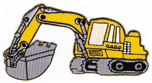 Ao61 Digger Construction Vehicle Sew-On Iron-On Patch Application Children
