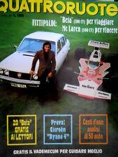 Quattroruote 220 1974 Fittipaldi: Beta per viaggiare, McLaren per vincere [Q98]