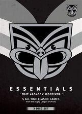 NRL - Essentials - New Zealand Warriors (DVD, 3-Disc) *NEW & SEALED *5 Classics!