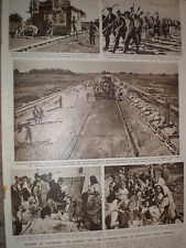 Photo article Yugoslavia youth brigade on road building duty 1949