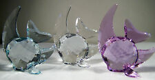 NEW IN BOX SWAROVSKI CRYSTAL SET OF THREE FISH AZORE/VIOLET/CLEAR  #1043243