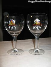 2 Abbey De Leffe Chalice Belgium Beer Pub Bar Glass sign stemware tap Gobblett