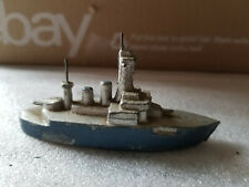 VINTAGE DIECAST SLUSH METAL NAVAL BATTLESHIP FRANCE 3 1/2""