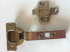 """BLUM CLIP TOP HINGES + HINGE ADJUSTABLE PLATES FOR 5/8"""" OVERLAY 71T5580/175H9100"""