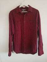 Mens Shirt Medium Red Uniqlo Check <EE5280