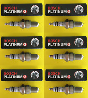 New SET OF 6 BOSCH Platinum+2 Spark Plugs - Made in Germany