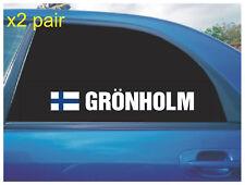 NICOLAS GRONHOLM REAR QUARTER WINDOW STICKERS FINLAND FLAG RALLY CROSS CAR X2