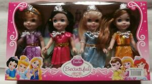 BRAND NEW 4 PIECE PRINCESS PLAY SET DOLLS PARTY GIFT