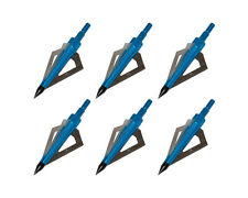 6pcs Blue Archery Arrow Broadheads 125 Grain Screw-in Arrow Head Tip Points New