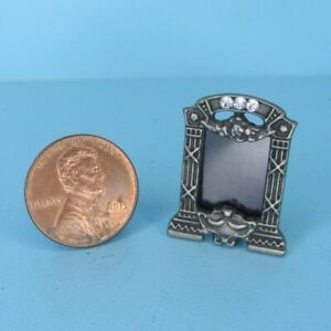 Dollhouse Miniature Pewter Table Top Picture Frame IM65776