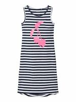 NAME IT Jersey Maxi Kleid NKFVippa dunkelblau gestreift Größe 128 bis 164