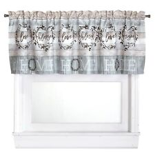 Farmhouse Window Valance with Rustic Country Look - Bathroom, Kitchen Treatment
