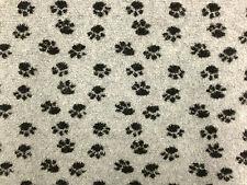 Sherpa Fleece Paw Print Pfoten Cashmere Hund Mantel Jacke Ausstattung Stoff A1296