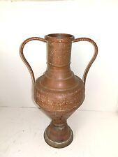 Anfora Brocca in rame antico per versare acqua o vino a tavola con due manici