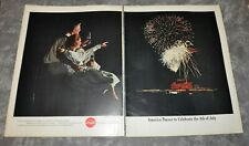 "1962 Coca-Cola ""4th of July"" Vintage Life Magazine Ad 10.5"" x 13"" 2-Pages"