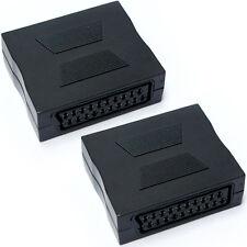 SCART hembra a hembra acoplador adaptador de video-Bloque de Extensión de 21 Pines TV Carpintero