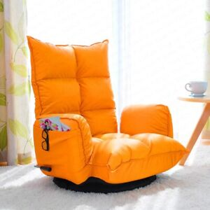Living Room Folding Bedroom Chair Bay Window 360° Sofa Chair bean bag Leather