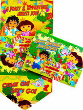 DORA THE EXPLORER & DIEGO BIRTHDAY PARTY INVITATIONS - PARTY ITEMS PACK OF 10