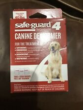 Safe-Guard Canine Dewormer for Large Dogs, 3 Day Treatment, Expiration 2022