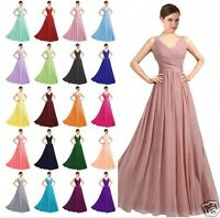 New Chiffon Bridesmaid Formal Ball Gown Party Cocktail Evening Prom Dresses6-22