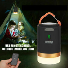 LED Camping Light USB Rechargeable Lantern Night Light Tent Lamp +Remote Control