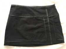 Billabong Black Faux Suede & Leather Trim Wrap Skirt Size 12