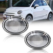 Clear Lens OEM Side Marker Light Housing for 2007-2019 Fiat 500 500e 500c Abarth