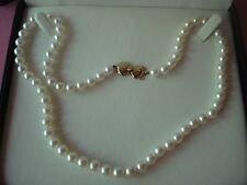 MIKIMOTO BLUE LAGOON PEARL NECKLACE BEZEL DIAMOND CLASP 14KT NEW IN BOX