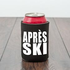 Apres Ski Beer Can Cooler/Drinking themed/Skiing/Beer lover/Funny drinks gift