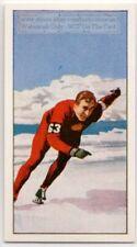 Speed Skating Grishin USSR 1960 Olympic Gold Medal Vintage Trade Card
