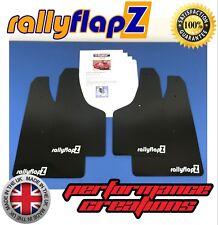 rallyflapZ VAUXHALL CORSA D VXR (06-14) Mud Flaps Kit Black 4mm PVC Logo White