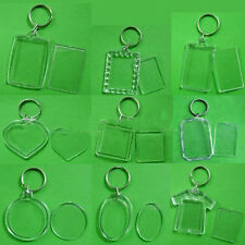 10 Pcs Plastic Key Chain  Photo Frame Keychain  Custom Made Good Quality